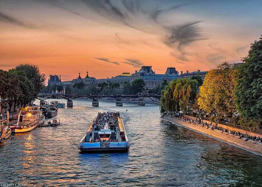 Boat on the Seine River