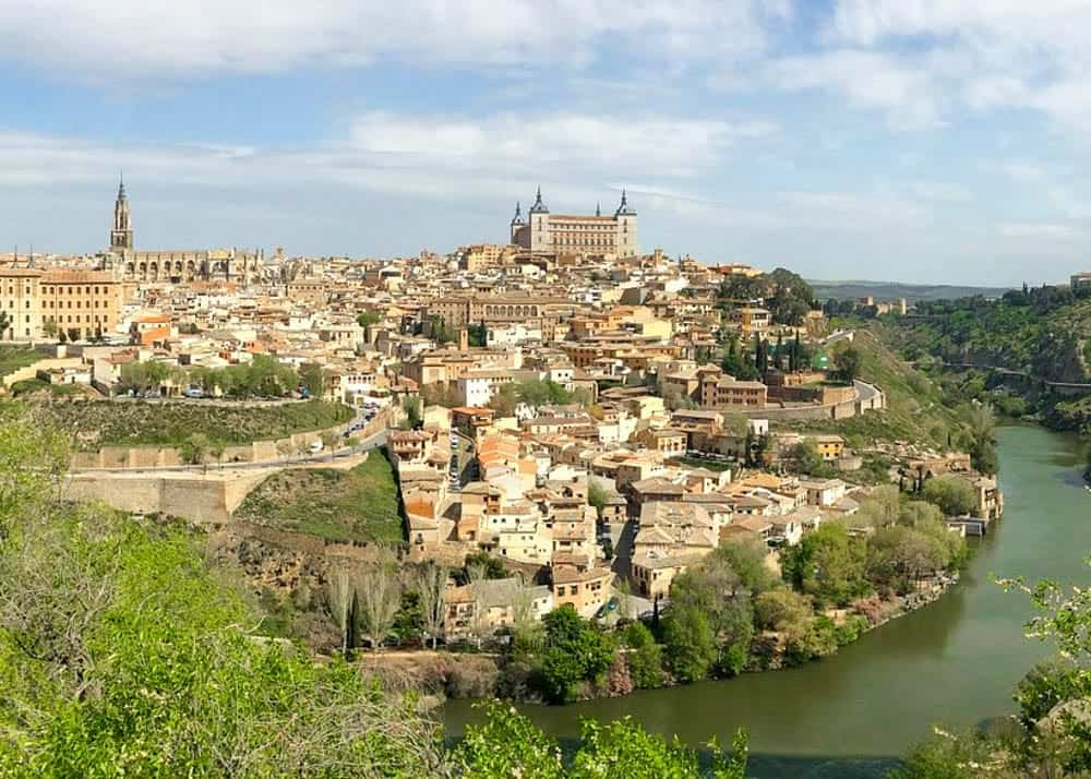 View of Toledo from the lookout point across the river
