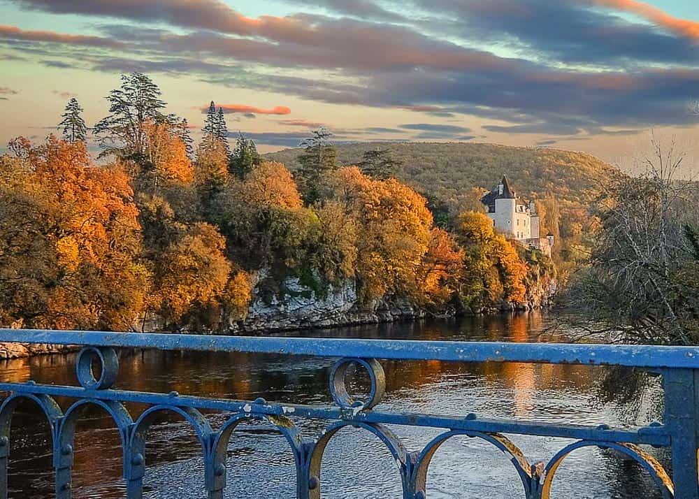 European landscape in fall