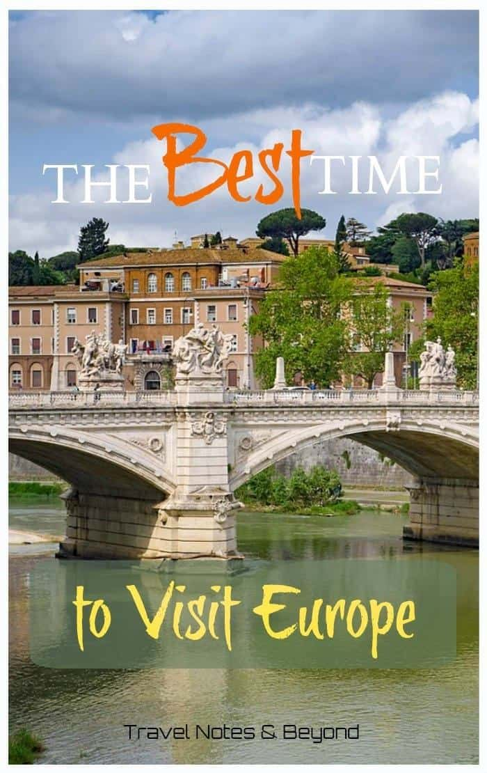 Best time to Travel to Europe pin