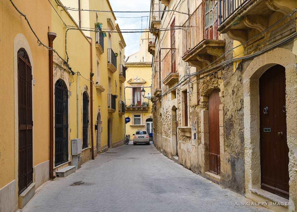 Narrow street in Taormina