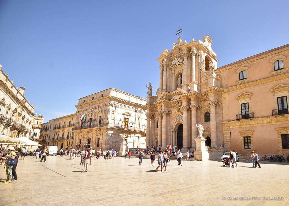 Piazza Duomo on Ortigia Island, Sicily
