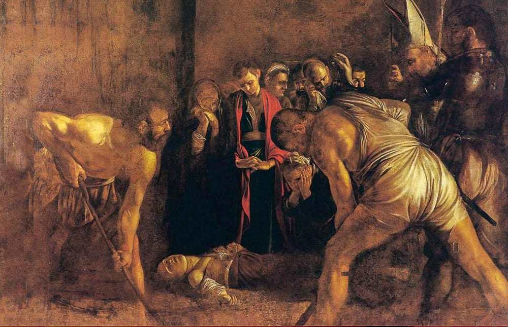 """Caravaggio's famous painting """"The Burial of Santa Lucia,"""""""