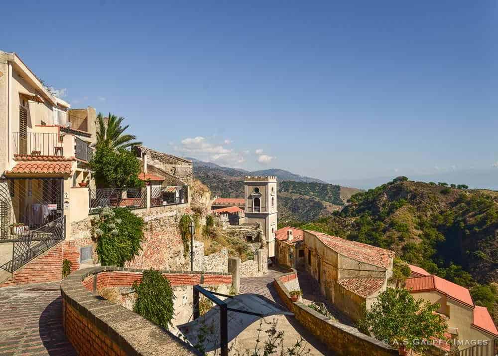 Narrow winding road in Sicily