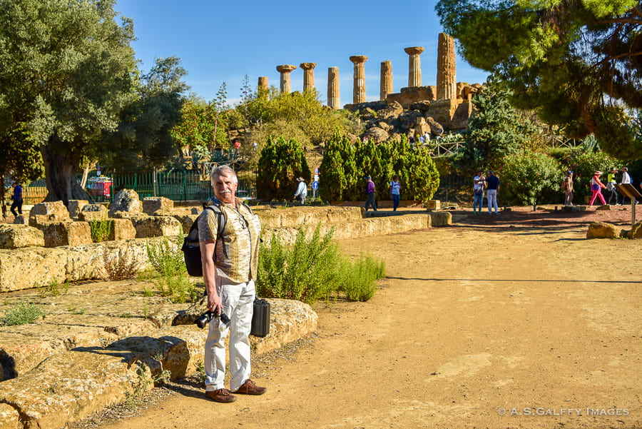 Visiting the archeological park in Agrigento