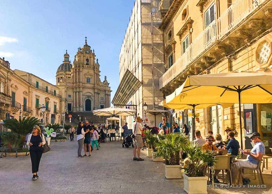 The town of Ragusa, Sicily