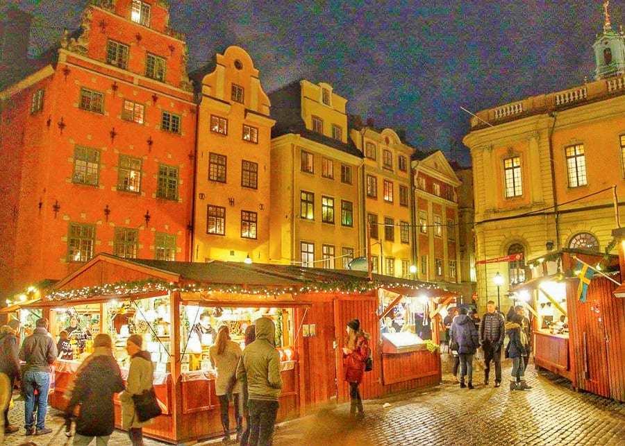 Stockholm Christmas Market, best European cities to visit in December