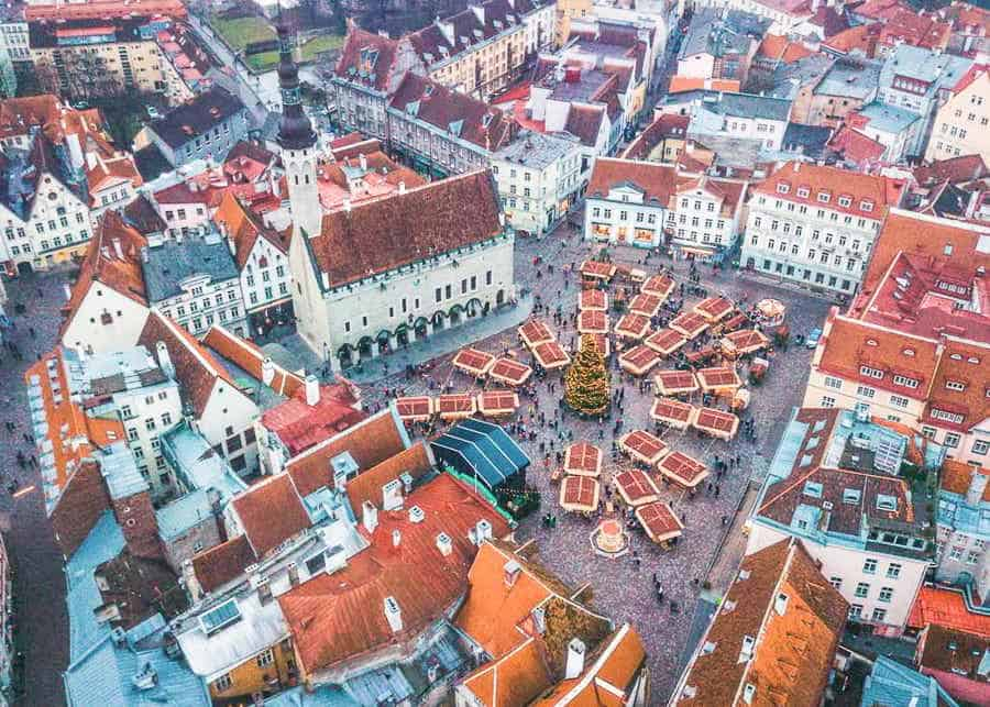 Europe in winter: Tallinn