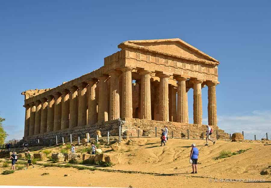 Temple of Concordia at the Valley of the Temples in Sicily