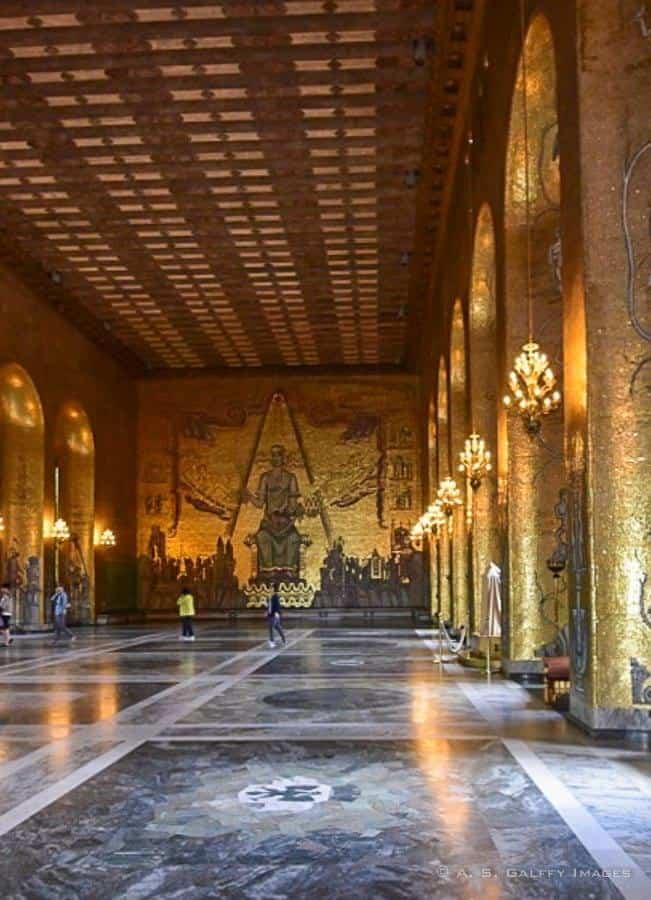 Stadshuset's Golden Hall - Europe bucket list