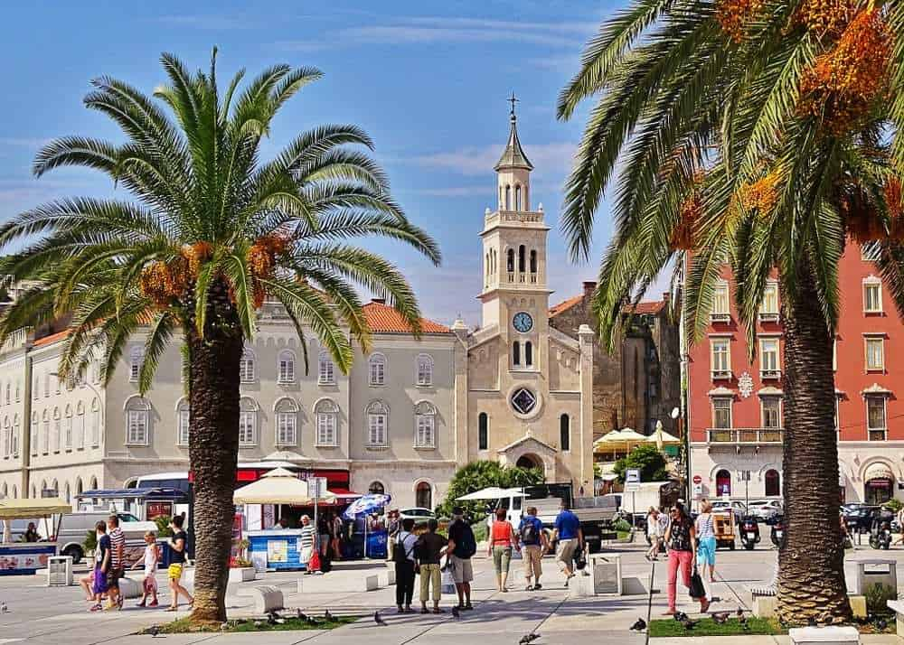 Visiting the town of Split, in Croatia