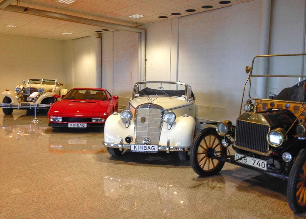 Vintage car collection at Sunlight Hotel in Nykoping - day trips from Stockholm
