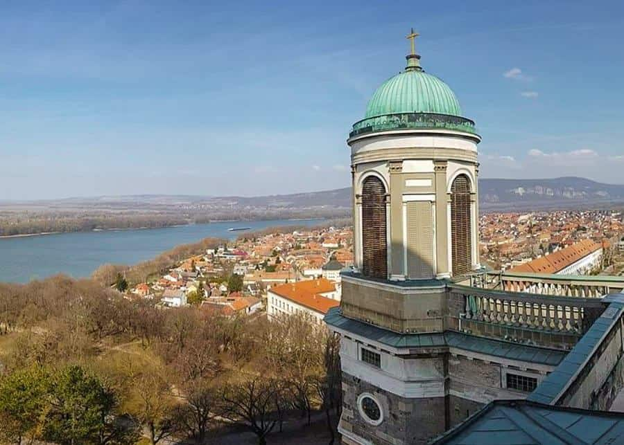 View of the Danube from Esztergom Basilica