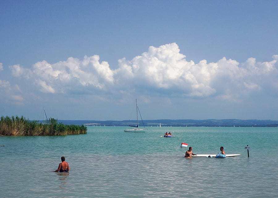 Swimming at Lake Balaton