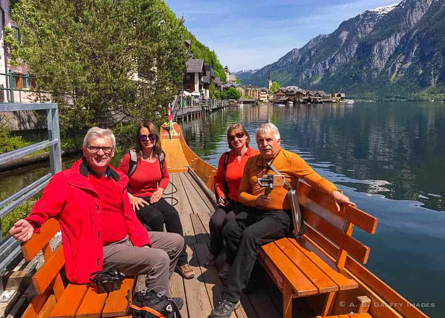 Private boat lake tour on a Hallstatt day trip from Salzburg