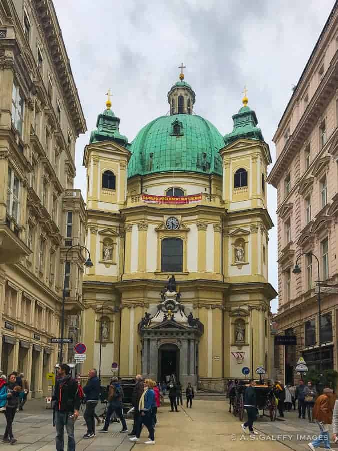 View of St. Peter's Church in Vienna