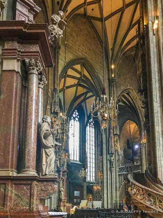 Interior of St. Stephen's Cathedral in Vienna