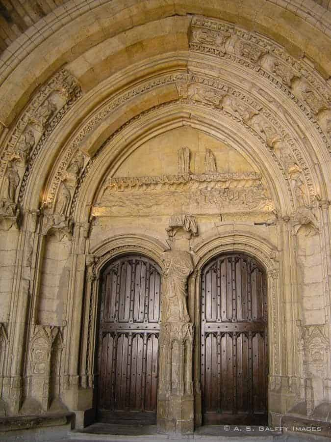 Doors of the Popes Palace in Avignon