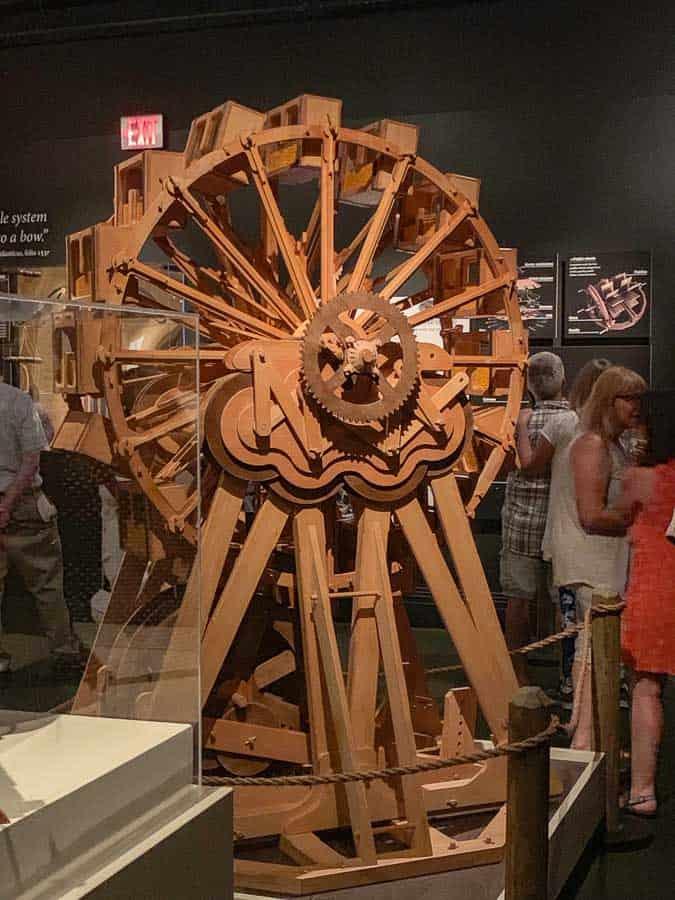 Da Vinci working machine at Chateau Clos Luce