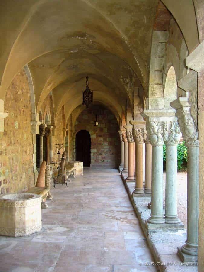 Cloister at the Chateau de la Napoule