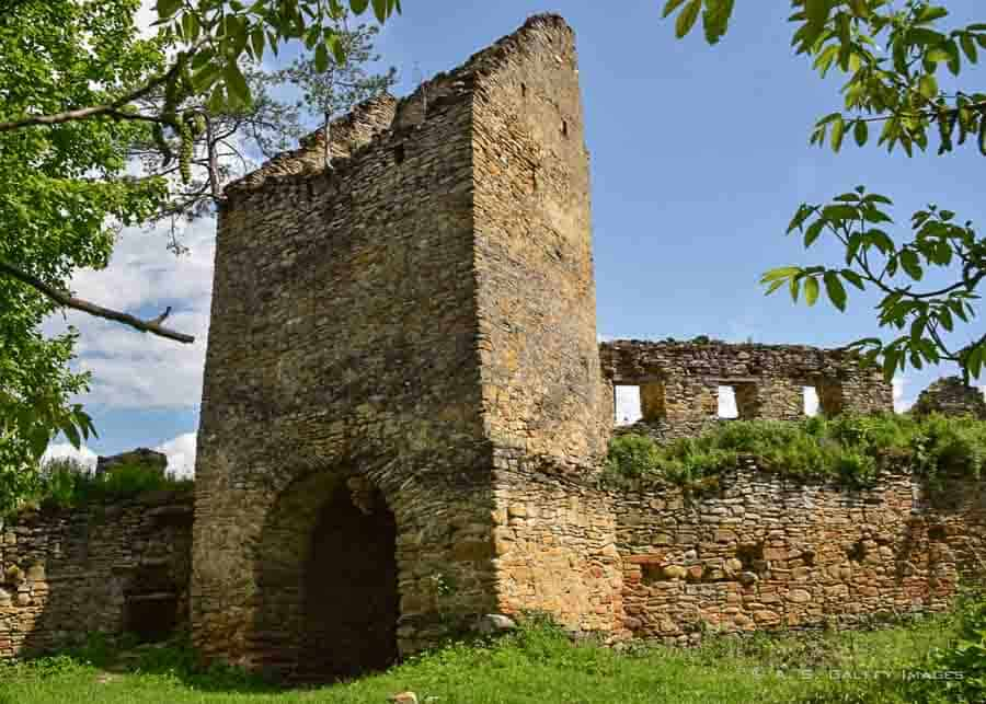 Ruins of the fortress of Saschiz in Romania
