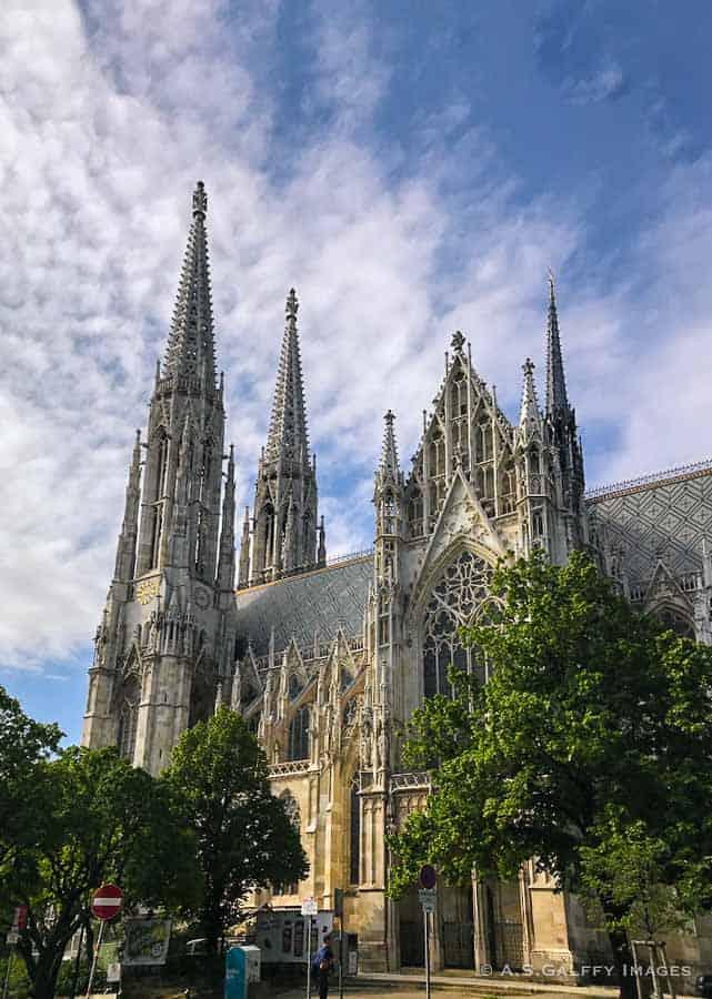 View of Votivkirche in Vienna