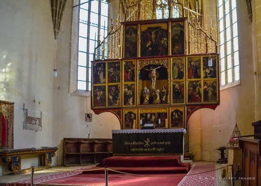 painted altar piece at Biertan church