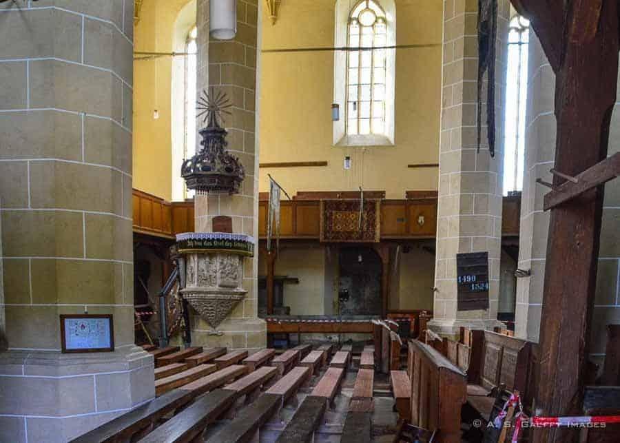 Interior view of Biertan church
