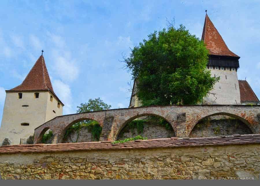 walls surrounding Biertan Fortified Church