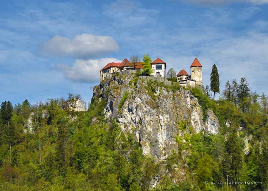 View of Bled Castle - day trip to Lake Bled from Ljubljana