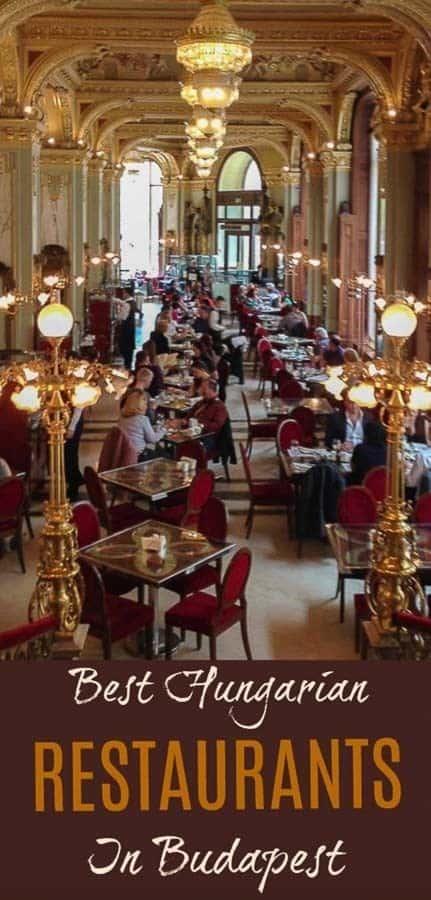 Hungarian restaurants in Budapest pin