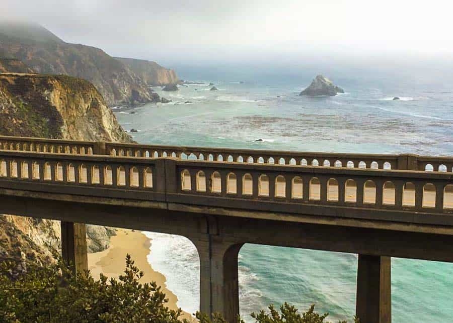 driving on Highway 1 one between LA and San Francisco