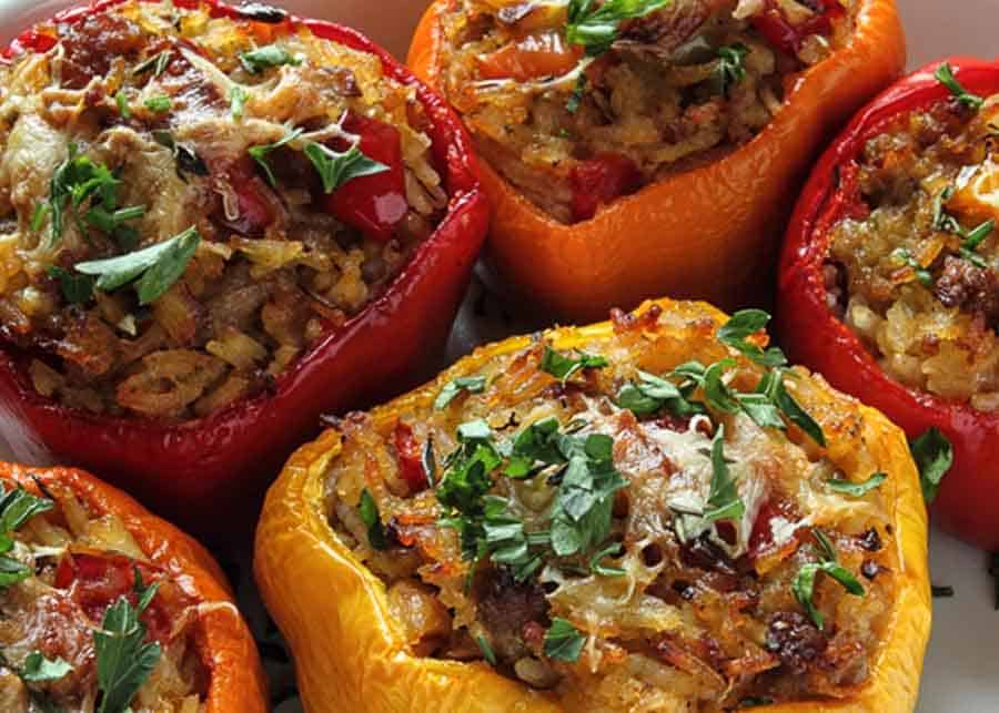 traditional Romanian dishes - stuffed bell pepper