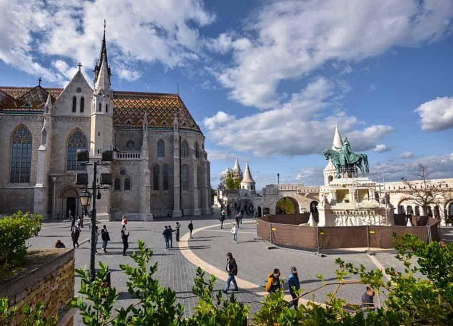 Holy Trinity Square in Old Town Budapest