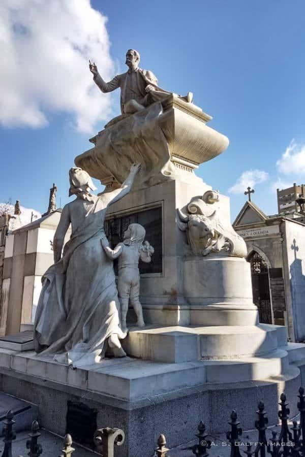 Carlos Peregrine's Tomb at La Recoleta Cemetery