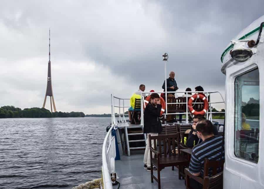 Cruising along the Daugava River