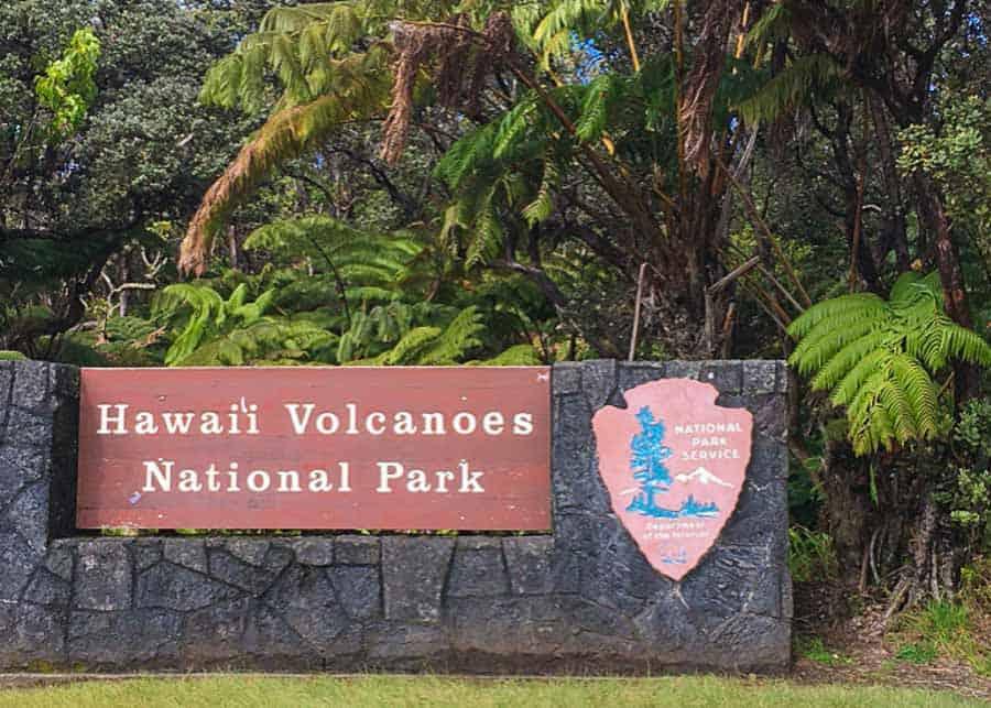 Hawaii Volcanoes National Park Entrance