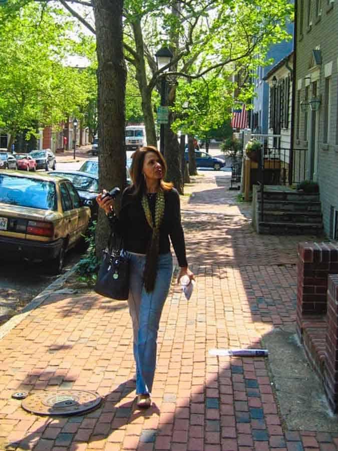 Walking through Washington DC