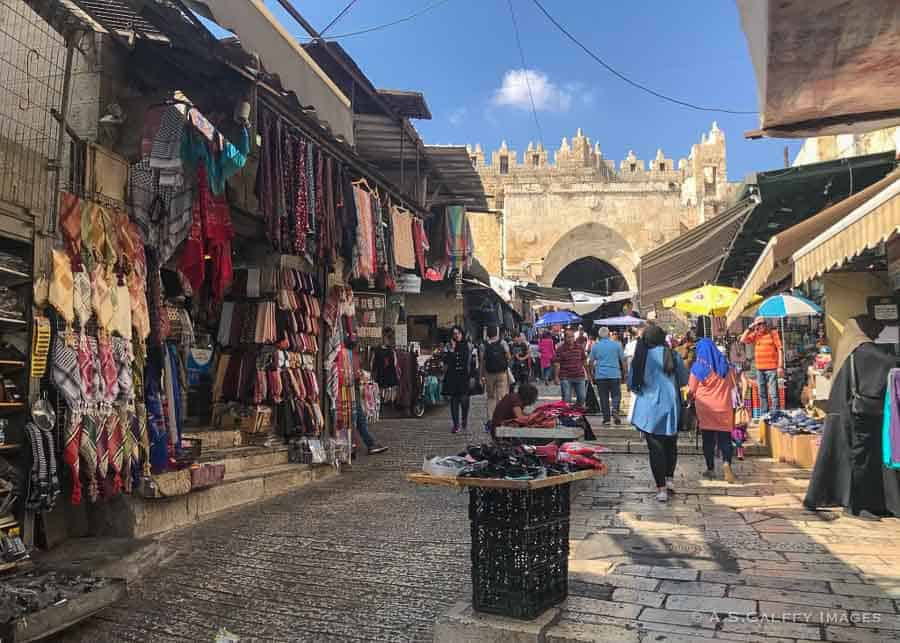 The Muslim quarter in Jerusalem