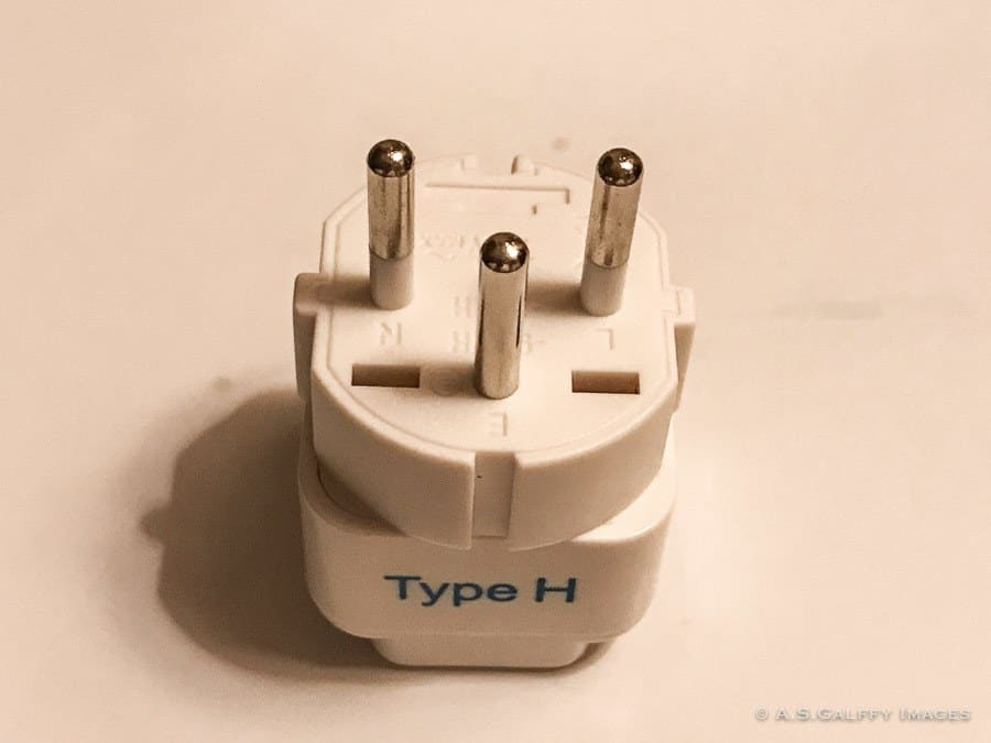 Type H plug for Israel