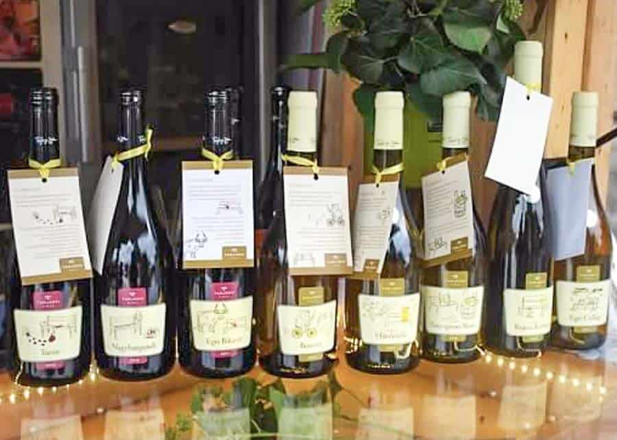 display of Hungarian Wines