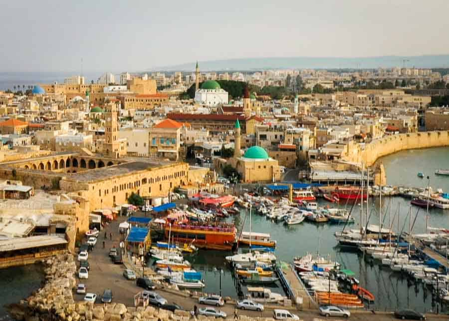 Aerial view of Akko