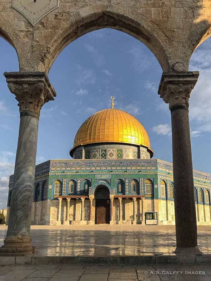 Places to visit in Jerusalem: Dome of the Rock Mosque i