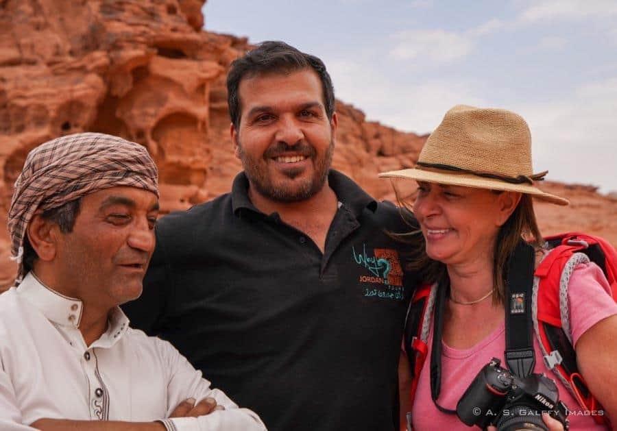 Friendly Jordanian people
