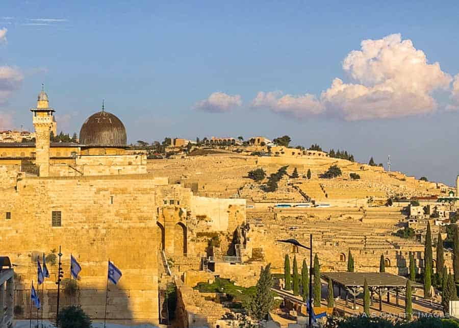 View of the Mount of Olives