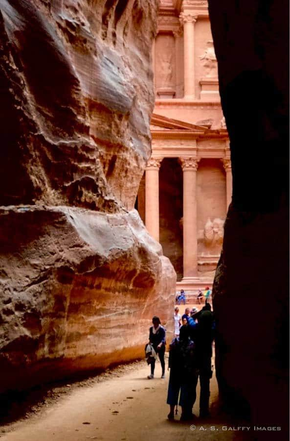 The Treasury at Petra - best places to visit in Jordan