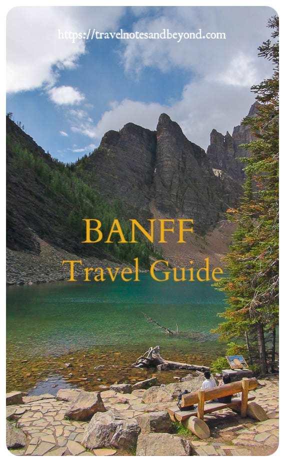 Banff travel guide pin