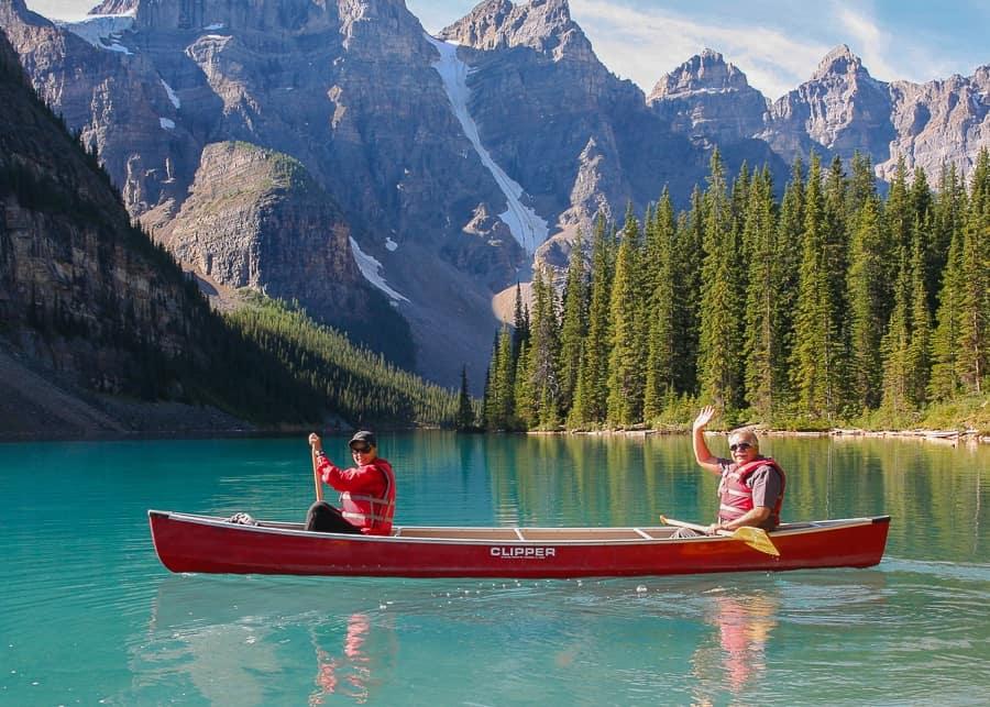 Canoeing on Lake Moraine