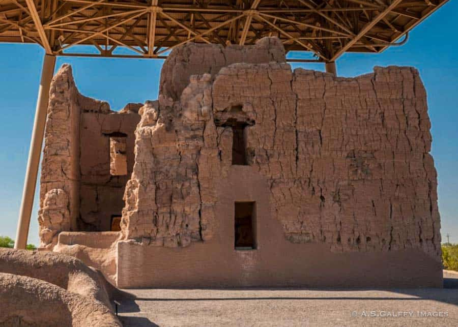 Casa Grande Indian ruins in Arizona