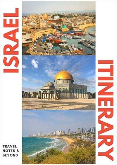 Israel itinerary pin